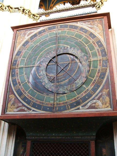 zegar w kościele w Stralsundzie