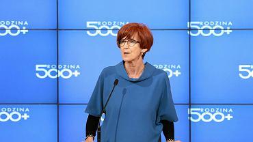 Minister rodziny i pracy Elżbieta Rafalska podczas spotkania w sprawie wdrażania programu 500+.