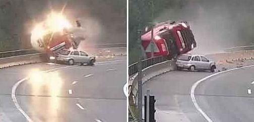 Słowenia: cysterna spadła z 20-metrowego wiaduktu, kierowca zginął na miejscu