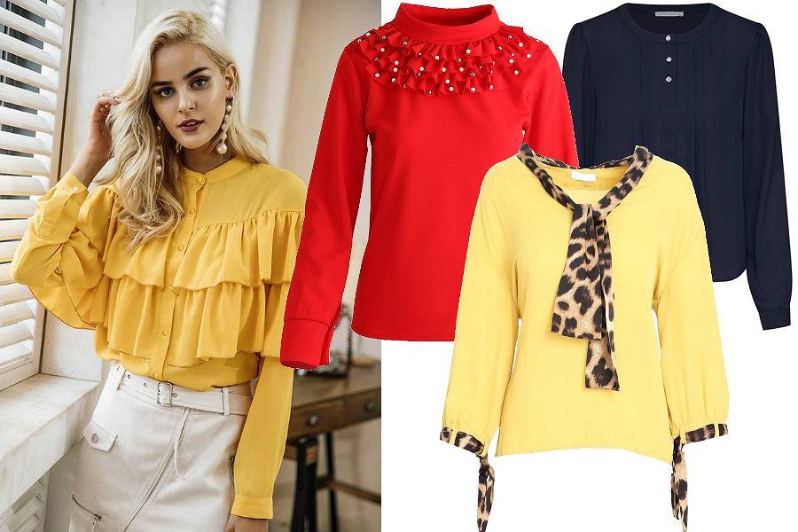 Bluzki wizytowe damskie kolorowe