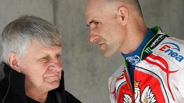 Pierwszy trening na torze - Jan Ząbik i Tomasz Gollob