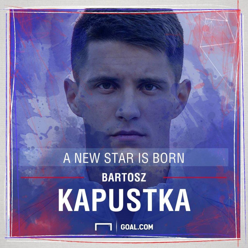 Bartosz Kapustka w grafice Goal.com
