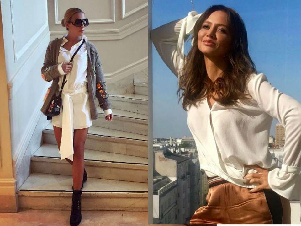 biała koszula Ewa Chodakowska Kinga Rusin