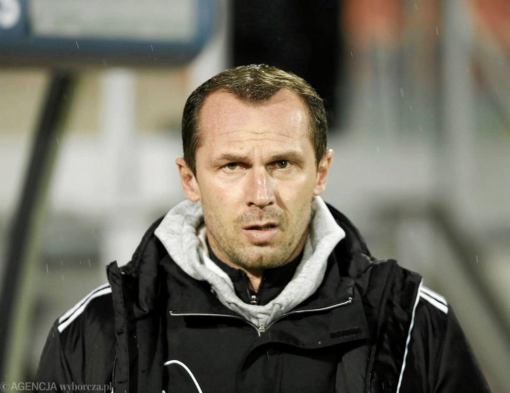 Radoslav Latal na meczu w Niecieczy