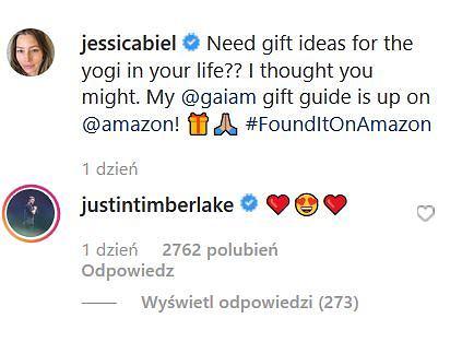 Komentarz Justina Timberlake'a