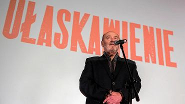 Jan Jakub Kolski podczas premierowego pokazu filmu 'Ułaskawienie' w rzeszowskim kinie Zorza.
