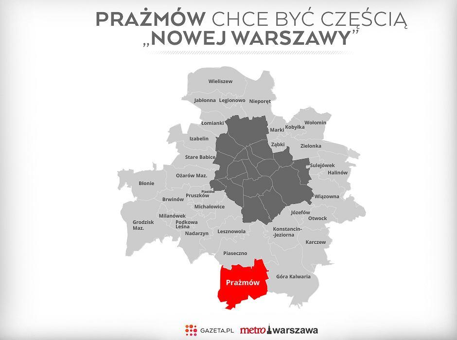 Prażmów w nowej Warszawie?