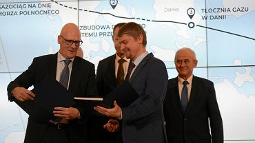 Konferencja prasowa w Warszawie na temat budowy gazociągu Baltic Pipe, 20 listopada 2018.