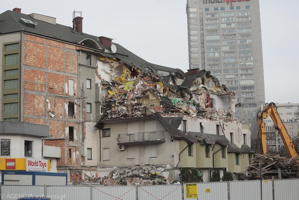 Rozbiórka Czarnego Kota - stan na dzień 2 stycznia.