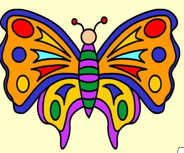 Kolorowanka Motyl I Dziecko