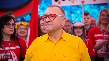 Jerzy Owsiak podczas 28 finału WOŚP.