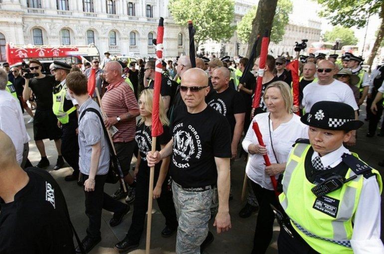 Neonazistowska demonstracja w Londynie