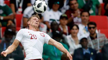 Łukasz Piszczek w meczu Polska-Senegal. Mistrzostwa Świata w Piłce Nożnej w Rosji, Moskwa, Stadion Spartaka, 19 czerwca 2018