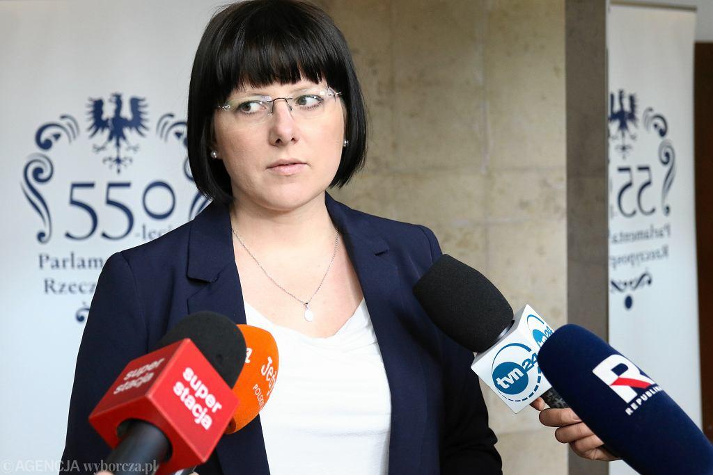 Komisja sejmowa o zakazie aborcji, na zdjęciu: Kaja Godek