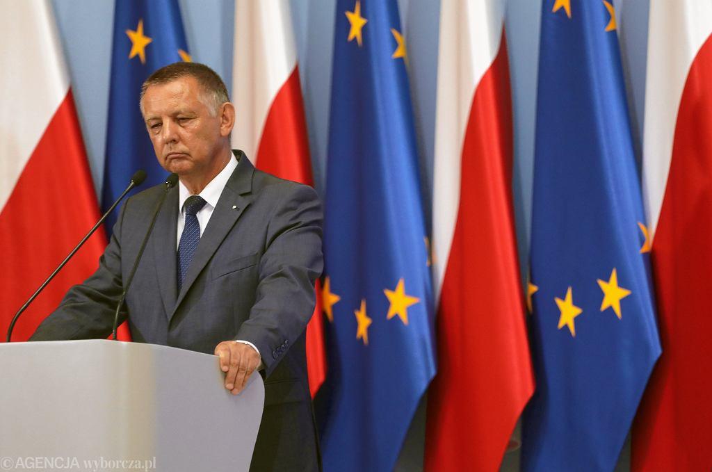 Marian Banaś jako minister finansów w rządzie PiS. Warszawa, 27 sierpnia 2019