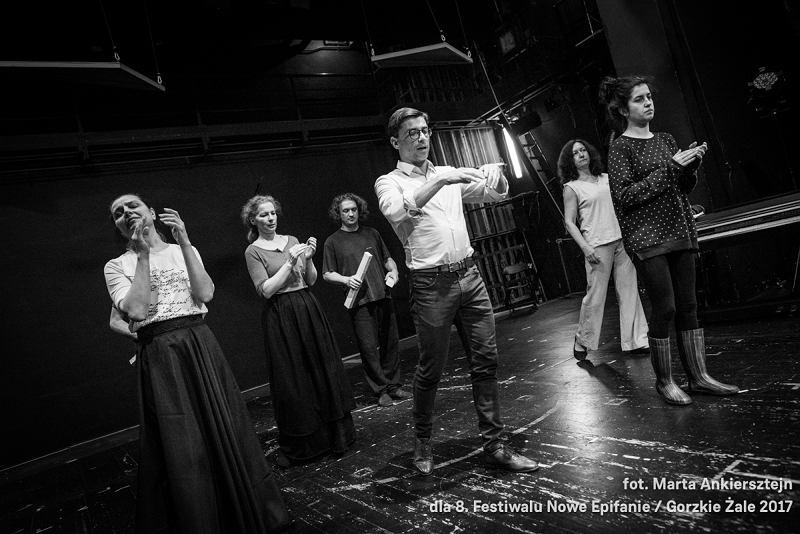 fot. Marta Ankiersztejn / Próba spektaklu 'Mater Dolorosa' w Teatrze Lalka