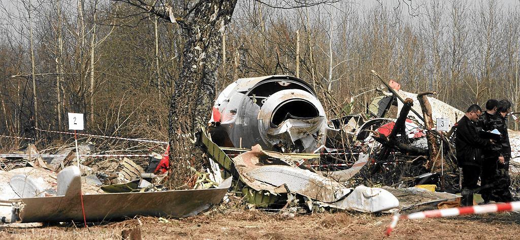 Miejsce katastrofy polskiego samolotu w Smoleńsku