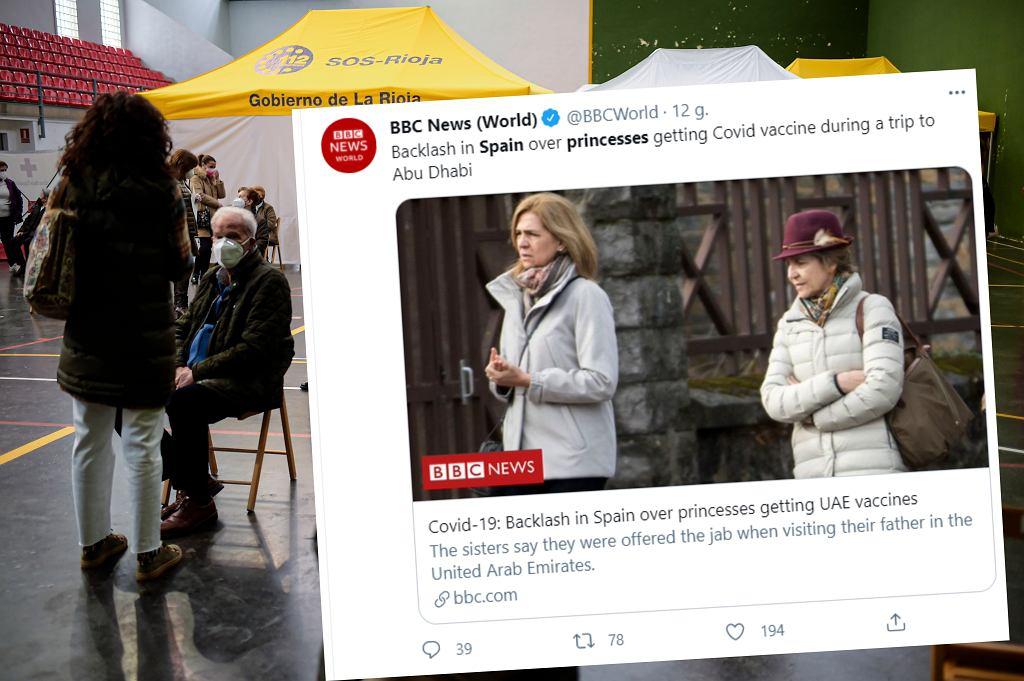 Księżniczki zaszczepione poza kolejnością. Skandal w Hiszpanii