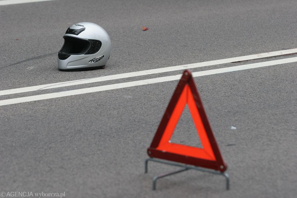 Tragiczny wypadek niedaleko Dębicy. Nie żyje motocyklista (zdjęcie ilustracyjne)