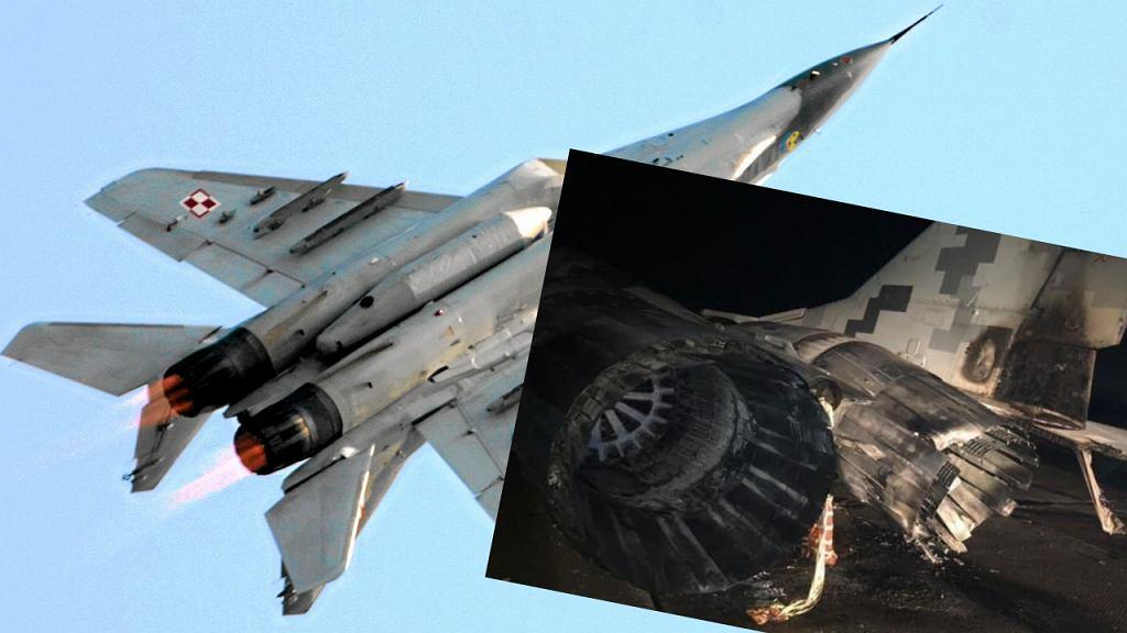 MIG-29 spłonął na ukraińskim lotnisku