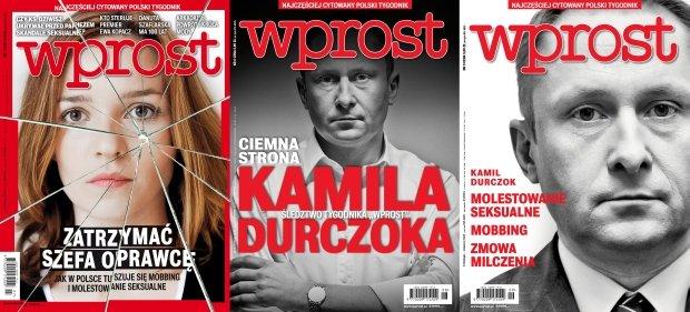 Kamil Durczok na okładkach 'Wprost'