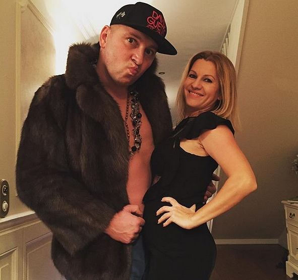Mariusz Lewandowski z żoną