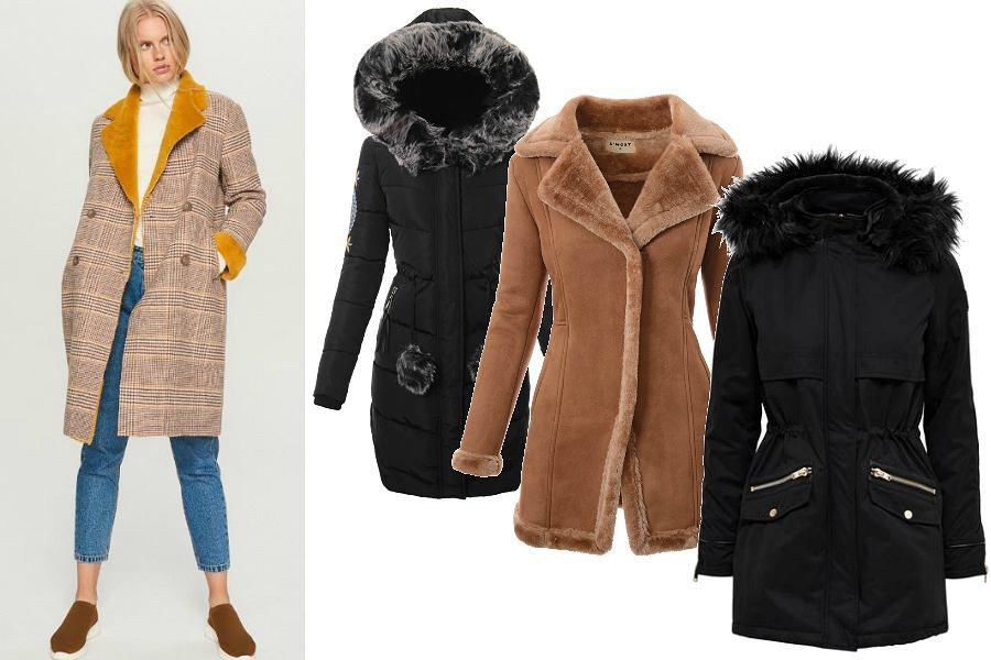 płaszcze zimowe z futerkiem