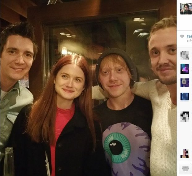 James Phelps, Bonnie Wright, Rupert Grint, Tom Felton