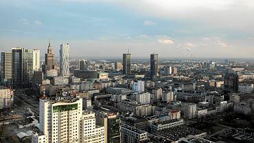 Panorama centrum Warszawy