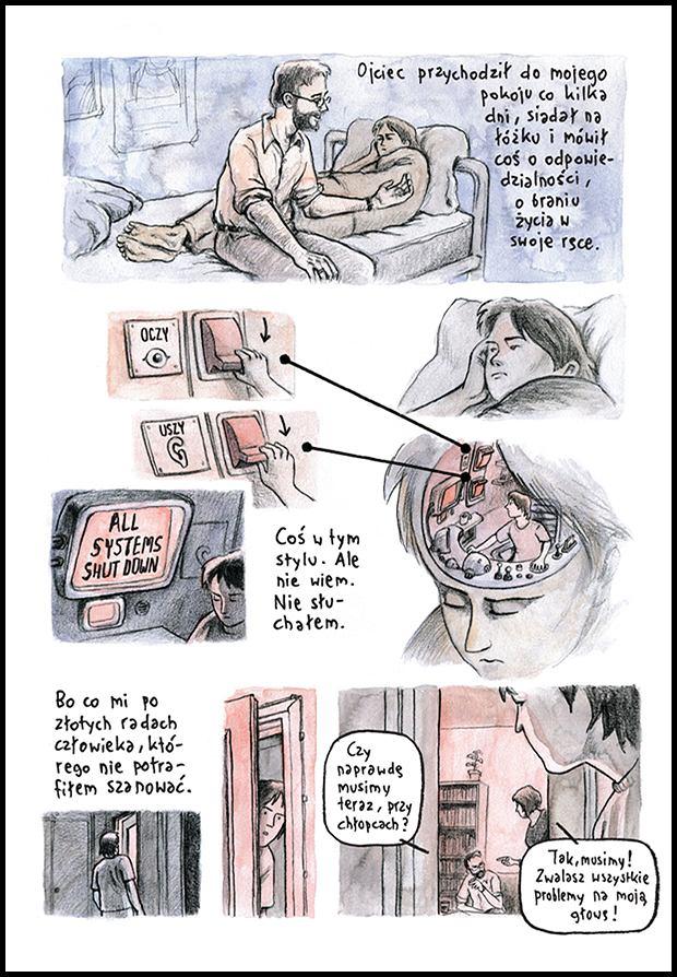 Komiks 'Czarne Fale' / K. Szaulińska i D. Chmielewski