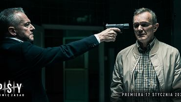 Bogusław Linda i Cezary Pazura w filmie 'Psy 3: W imię zasad'