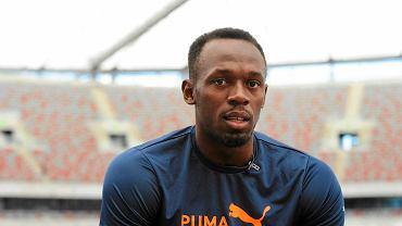 Usain Bolt na Stadionie Narodowym
