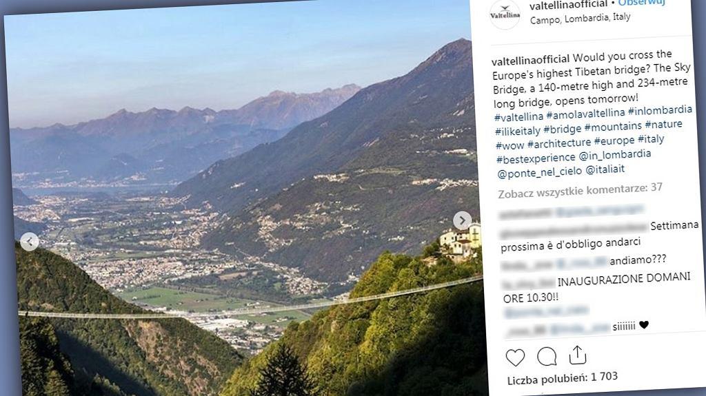 Najwyższy most wiszący powstał we Włoszech