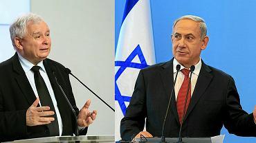 Jarosław Kaczyński i Beniamin Netanjahu
