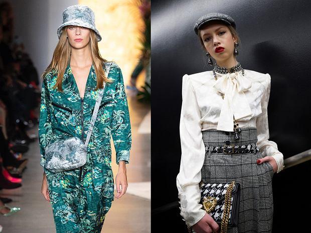 Czapki damskie w kolekcjach Anna Sui i Dolce&Gabbana