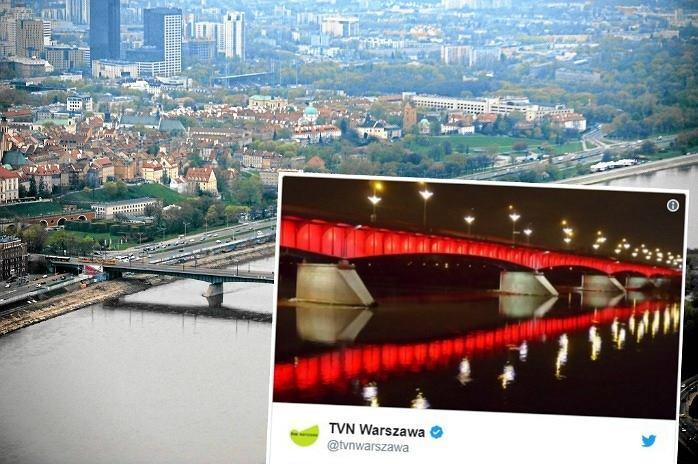 Most Śląsko-Dąbrowski zaświecił się na czerwono. Będzie alarmował warszawiaków
