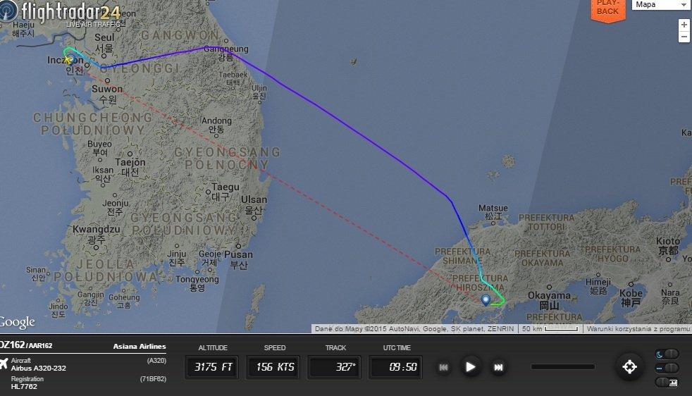 Wypadek samolotu na lotnisku w Hiroszimie