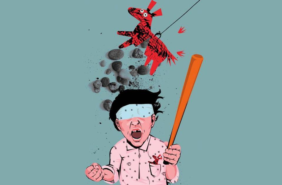 Psycholog: Zastanówmy się, co kilkulatek zrozumie z rozbijania piniaty?