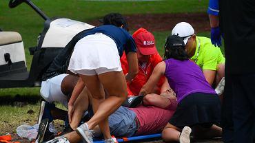 USA. Ranni po uderzeniu pioruna w czasie zawodów golfowych.