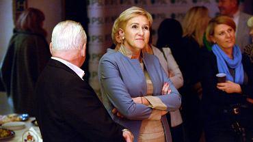 Wieczór wyborczy PSL w Olsztynie. Na zdjęciu posłanka Urszula Pasławska