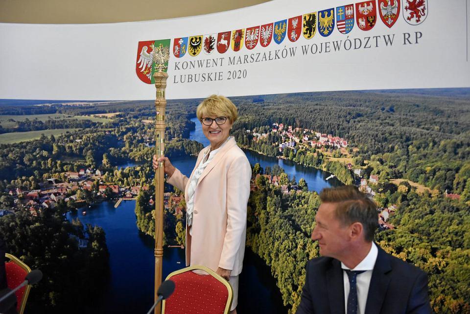 Lubniewice, 31 lipca 2020. Konwent Marszałków polskich województw. Marszałek Elżbieta Polak