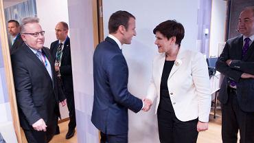 Spotkanie liderów państw Grupy Wyszehradzkiej z Emmanuelem Macronem