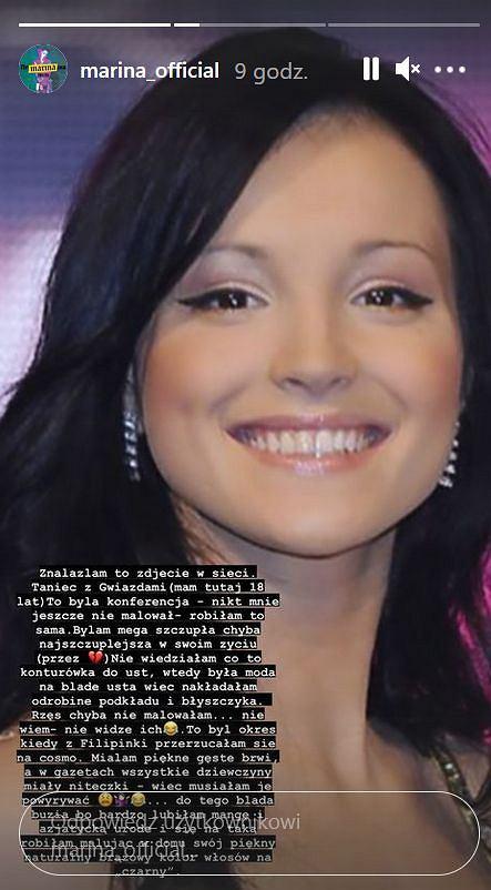 Marina na starym zdjęciu