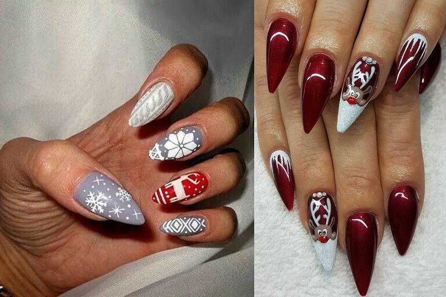 W 2018 roku popularne będą świąteczne wzory na paznokciach w klasycznych kolorach