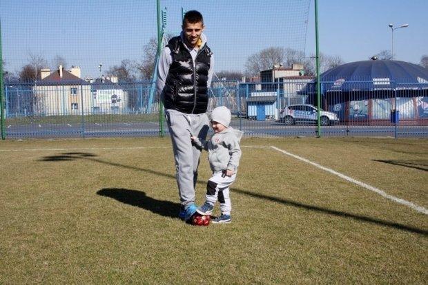 Grzegorz Kuświk z synem Kacprem na Cichej