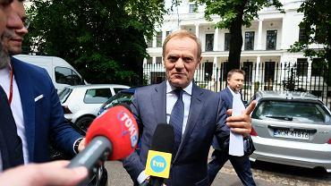 Konferencja prasowa Donalda Tuska w Warszawie