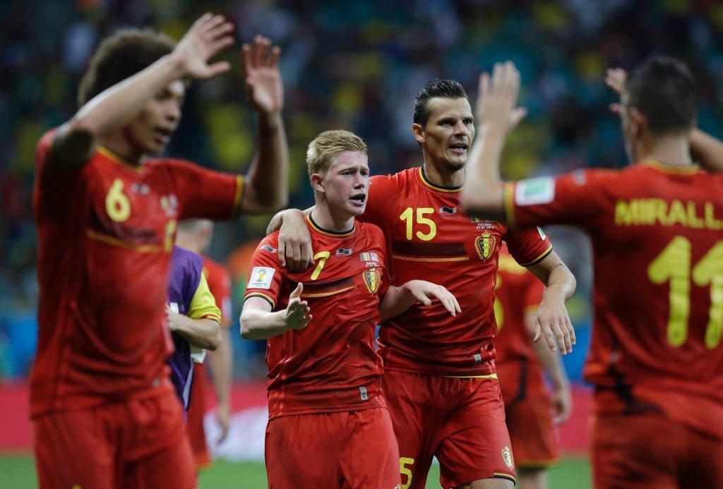 Belgia cieszy się z bramki strzelonej USA