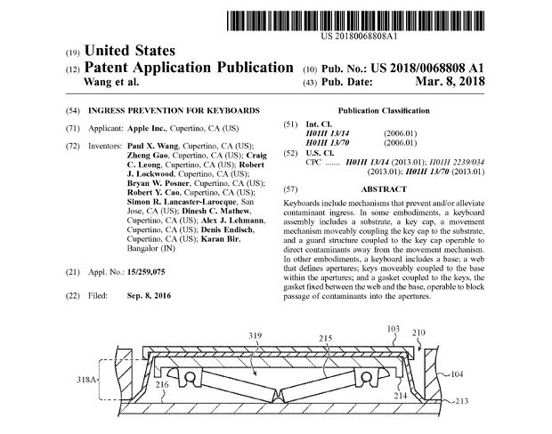 Wniosek patentowy Apple dotyczący nowej konstrukcji klawiatury