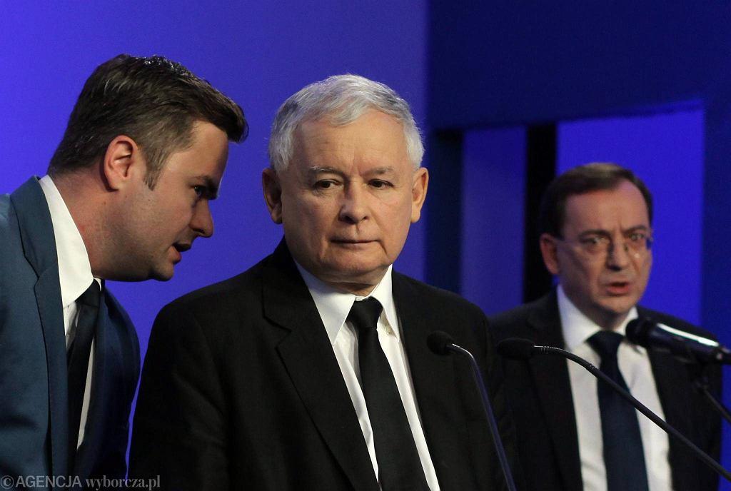 Adam Hofman, Jarosław Kaczyński i Mariusz Kamiński