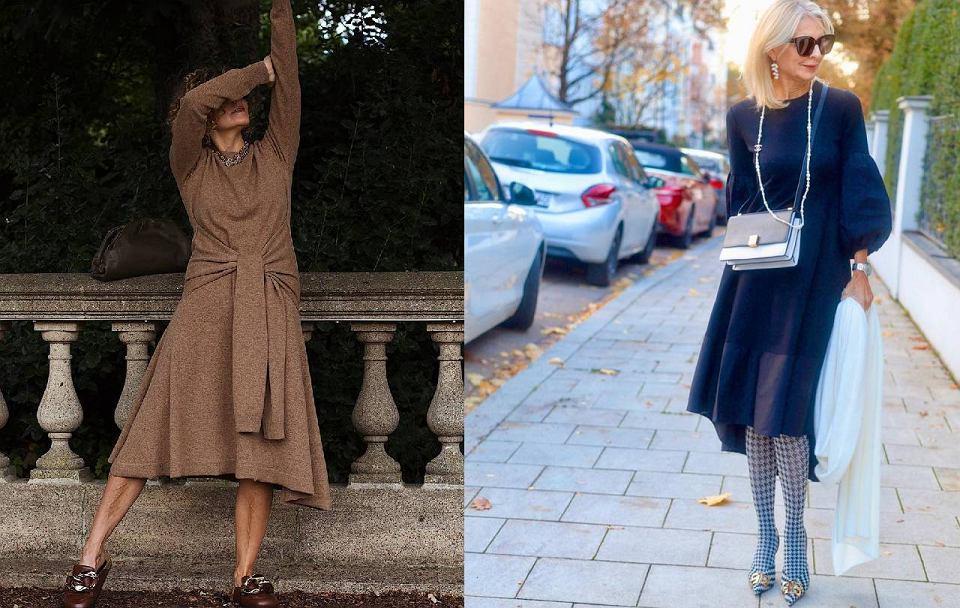 Sukienki z długim rękawem dla kobiet po 50-tce